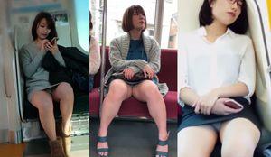 電車内の対面パンツ1