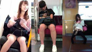 電車内の対面パンツ3