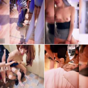 華奢な体つきなのにおっぱいのサイズは相当な台湾系美女がふたり、複数人の男性達と淫ら過ぎる乱交パーリーを開催した一度は参加してみたい激エロ乱交FUCK!