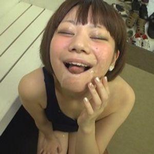 【GOKKUN】★可憐美女・あきちゃんのスク水エロエロ飲精フェラチ~オ♪