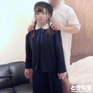 【中出し】お茶の水/おさげが可愛らしいミニマム系発育途上の女の子に特別な面接で制服を着たままで中出し