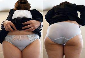 【ワンコイン人妻パンチラ】新規営業獲得はこのご時世難しいからスカート捲くり上げる