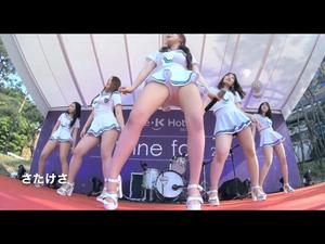 お気に入りダンサーのヨンジュちゃんのアイドルダンスグループ③ローアングル