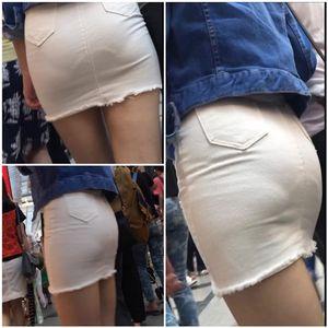 透けまくりなタイトスカートギャル
