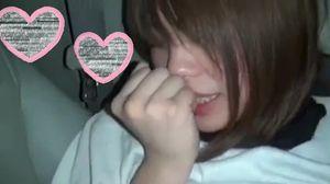 【個人撮影】乳輪が大きいパイパン美女とハメ撮りカーセックス【スマホ】