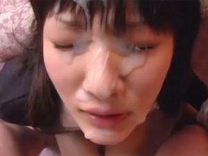 【総勢13名】女の子の顔面に容赦ない大量ぶっかけ。