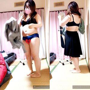 【デブの着替え】ムッチリメガネ女を隠し撮り