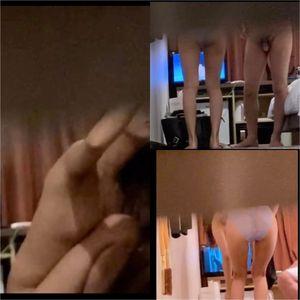隙間から隠し撮りホテルでのカップルSEX 超エロい喘ぎ声です