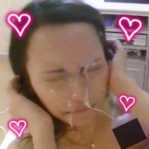 レビュー特典あり!先輩の美人妻の顔面に大量ぶっかけ&絶叫SEX 完全オリジナル 個人撮影