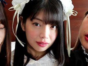 【11月限定販売】メイドの瀧本梨絵がレズ友だちに逝かされ肉棒に突かれてしまう