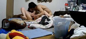 【口内射精】PCカメラで覗かれたカップル