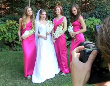 【無修正】結婚式で花嫁とのレズプレイ