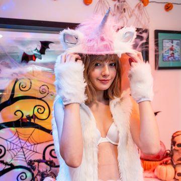 期間限定500円 スカーレット・ヨハンソン似の今風白人美少女とエッチなハロウィン - 60fps高画質