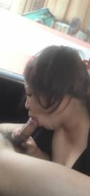 [個人撮影]#3 むちむち若妻の車内フェラで大量発射
