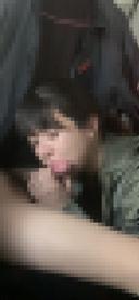 [個人撮影]清楚系ゆるふわ女子大生の車内フェラで大量発射