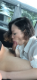 [個人撮影]第4弾 Eカップお姉さんの車内フェラで口内発射