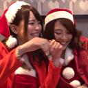 【個人撮影】コスプレ美女サンタ2人組 ナンパでお持ち帰り