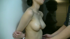 Slender college student busty chan mischievous boobs blame j20-3