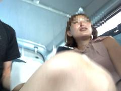 【個人撮影】過去MAXの興奮!ナースさんの30分吸引車内フェラチオで大量口内発射!-4