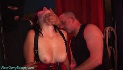 Hanna first Groupsex  Real Gang Bangs