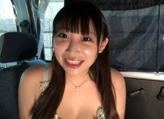 Great Power ☆ Big Breasts Fir Fir In-Car Blow ☆ Fair-skinned K Cup Female College Student Tenshi-chan-Part 2