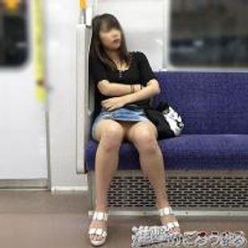【個撮21】完全顔出し19歳スレンダーパイパン スジマン⑧ 電車で超デニムミニ 最後はカラオケ