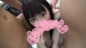人生初3P!!◯服コス♡ 黒髪♡ロリ顔♡色白のウブウブ女子ともかちゃんに、 3Pのお勉強させちゃいました~❤️❤️